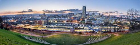 Vista panoramica di Sheffield fotografia stock libera da diritti