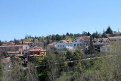 Vista panoramica di Siguenza a Guadalajara Fotografia Stock Libera da Diritti