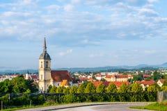 Vista panoramica di Slovenska Bistrica, Slovenia Immagini Stock Libere da Diritti