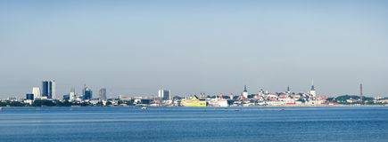 Vista panoramica di Tallinn Fotografie Stock