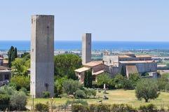 Vista panoramica di Tarquinia. Il Lazio. L'Italia. Fotografia Stock Libera da Diritti