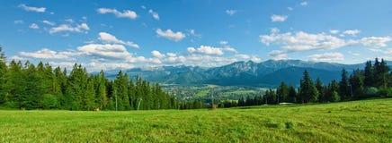 Vista panoramica di Tatras Fotografie Stock