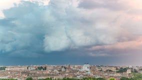 Vista panoramica di timelapse concentrare storico di Roma, Italia archivi video