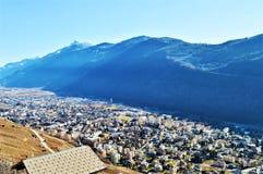 Vista panoramica di un villaggio Fotografia Stock Libera da Diritti
