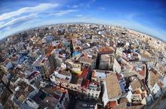 Vista panoramica di Valencia, Spagna immagini stock libere da diritti
