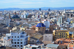 Vista panoramica di Valencia, Spagna Fotografia Stock Libera da Diritti