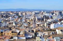 Vista panoramica di Valencia, Spagna fotografia stock