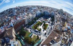 Vista panoramica di Valencia, Spagna immagini stock