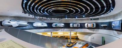Vista panoramica di vari progetti, concetti ed automobili sportive di Mercedes-Benz Fotografia Stock