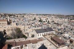 Vista panoramica di vecchia città Gerusalemme immagine stock libera da diritti