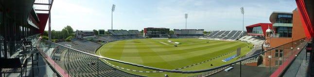 Vista panoramica di vecchio campo di cricket di Trafford Fotografie Stock Libere da Diritti