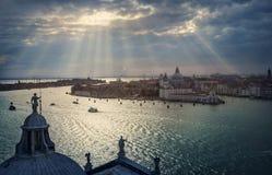 Vista panoramica di Venezia Fotografia Stock Libera da Diritti