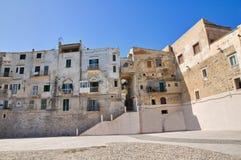 Vista panoramica di Vieste. La Puglia. L'Italia. Fotografia Stock Libera da Diritti