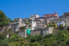 Vista panoramica di Viggianello La Basilicata L'Italia Immagine Stock