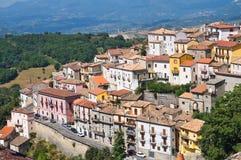 Vista panoramica di Viggianello La Basilicata L'Italia Fotografia Stock