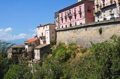 Vista panoramica di Viggianello La Basilicata L'Italia Immagini Stock