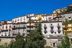 Vista panoramica di Viggianello La Basilicata L'Italia Immagine Stock Libera da Diritti