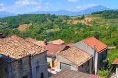 Vista panoramica di Viggianello La Basilicata L'Italia Fotografie Stock