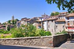 Vista panoramica di Viterbo. Il Lazio. L'Italia. Immagini Stock
