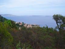 Vista panoramica ed isole di Lerinsky Fotografia Stock