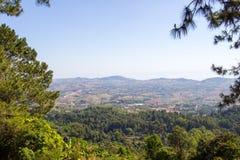 Vista panoramica a Khao Kho PalacePratumnak Khao Kho, provincia di Phetchabun, Tailandia del Nord Immagine Stock Libera da Diritti