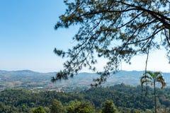 Vista panoramica a Khao Kho PalacePratumnak Khao Kho, provincia di Phetchabun, Tailandia del Nord Immagine Stock