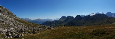 Vista panoramica meravigliosa di paesaggio della montagna della dolomia Fotografia Stock Libera da Diritti