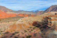 Vista panoramica nel Quebrada de las Conchas, Argentina Fotografia Stock Libera da Diritti