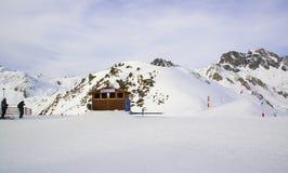 Vista panoramica nelle montagne svizzere delle alpi Fotografia Stock