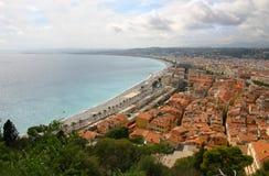 Vista panoramica - Nizza - la Francia Fotografia Stock Libera da Diritti