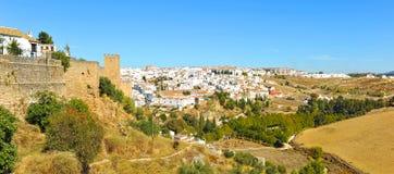 Vista panoramica provincia di Ronda, Malaga, Spagna fotografie stock libere da diritti