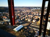 Vista panoramica Sguardo artistico nei colori vivi d'annata Fotografia Stock