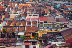 Vista panoramica sopra Georgetown, Penang, Malesia fotografia stock