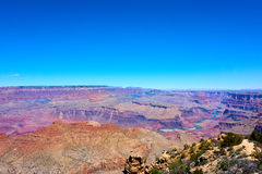 Vista panoramica sopra il paesaggio del Grand Canyon Immagini Stock