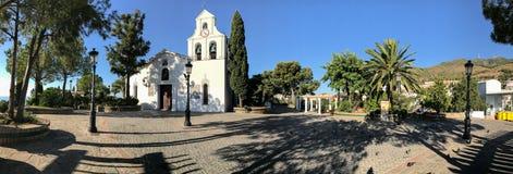 Vista panoramica sopra il pueblo di Benalmadena, Malaga, Spagna Immagini Stock Libere da Diritti