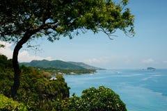 Vista panoramica sopra l'oceano in Bali, Indonesia Fotografie Stock Libere da Diritti