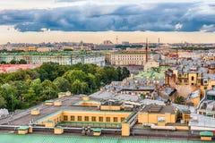 Vista panoramica sopra St Petersburg, Russia, dal gatto della st Isaac Fotografia Stock