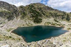 Vista panoramica stupefacente dei laghi Musalenski, montagna di Rila Fotografia Stock Libera da Diritti