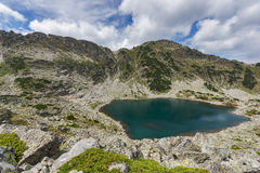 Vista panoramica stupefacente dei laghi Musalenski, montagna di Rila Immagine Stock