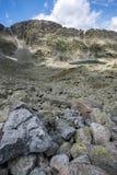 Vista panoramica stupefacente dei laghi Musalenski, montagna di Rila Fotografie Stock Libere da Diritti
