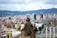 Vista panoramica su Barcelone fotografia stock