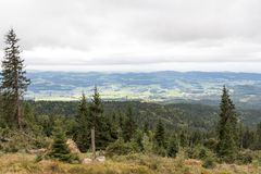 Vista panoramica su Dreisesselberg Immagini Stock Libere da Diritti