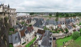Vista panoramica su Loire Valley Fotografia Stock Libera da Diritti