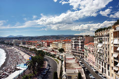 Vista panoramica su Nizza Fotografia Stock Libera da Diritti