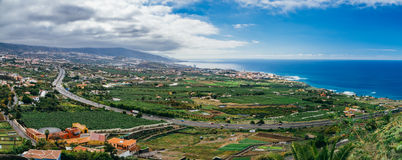 Vista panoramica su Puerto de la Cruz, Tenerife Fotografie Stock Libere da Diritti