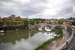 Vista panoramica su Roma Fotografia Stock