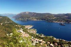 Vista panoramica sul lago Orta Fotografie Stock