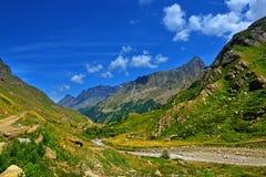 Vista panoramica sul parco nazionale di Gran Paradiso fotografia stock libera da diritti
