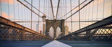 Vista panoramica sul ponte di Brooklyn immagini stock