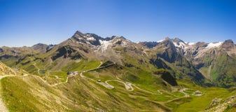 Vista panoramica sull'alta strada alpina di Grossglockner Fotografia Stock